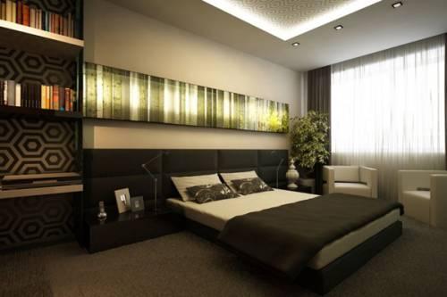 интерьеры гостиных с темной мебелью фото