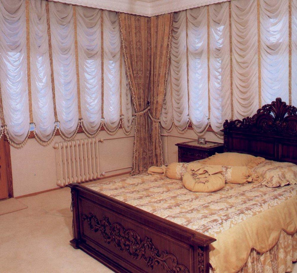 Декор штор для спальни фото